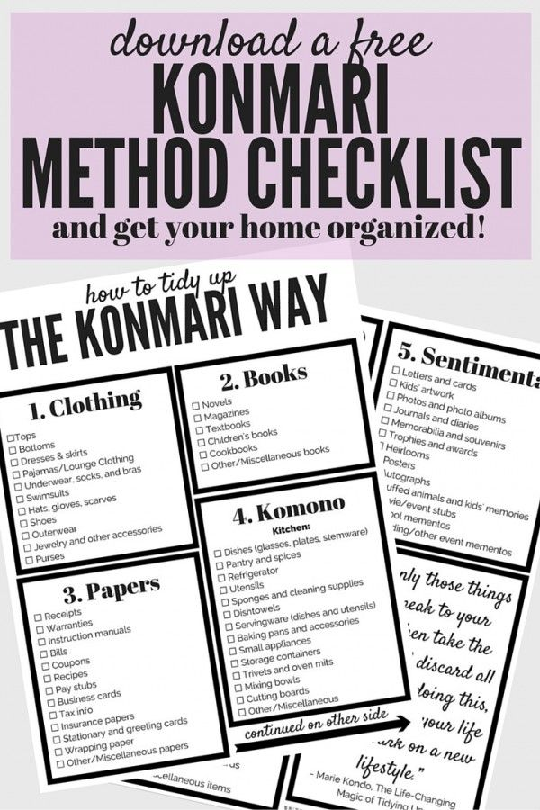 Do you find that you struggle to keep your home clean and organized? Are you always decluttering, only to start over again a few months later? Then maybe the KonMari method is for you! This post will show you how to use the tips and tricks from The Life-Changing Magic of Tidying Up to get your clothing clean and organized, once and for all! There's even a free printable checklist for the entire KonMari method, so you can be sure you don't miss a thing!