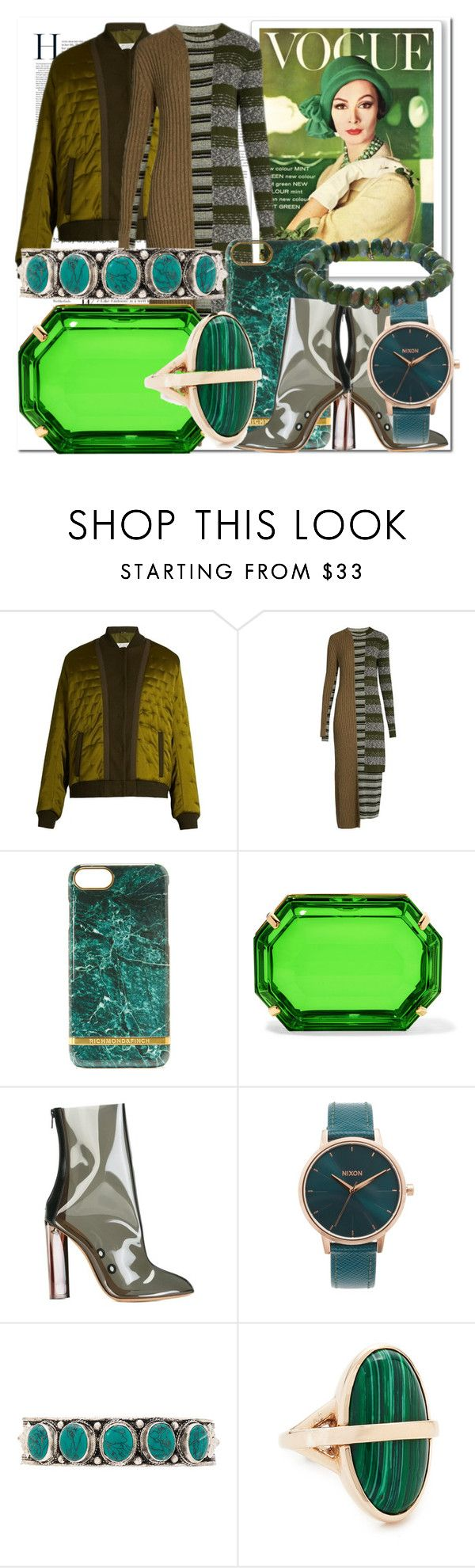 """Weekend Fashion in Green!!"" by stylediva20 on Polyvore featuring Maison Margiela, Charlotte Olympia, adidas Originals, Nixon, Natalie B, Pamela Love and Sydney Evan"