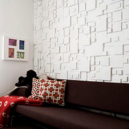 6 Top Interior Design Projects From Porto Portugal: Painel De Gesso, Mas Pode Ser Feito Com Isopor Várias