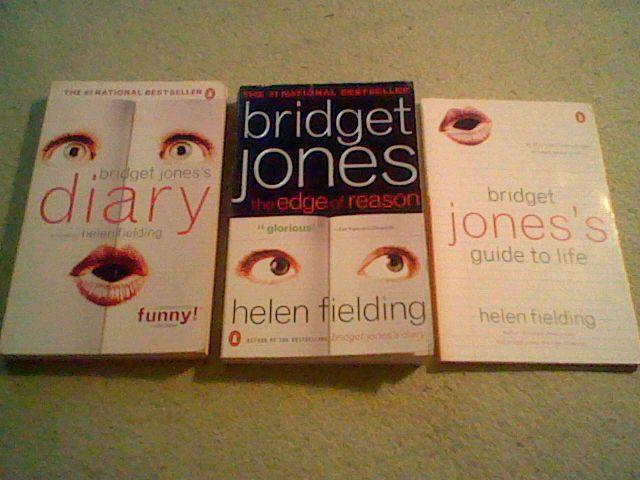 Bridget Jones's Diary,Edge of Reason,Guide to Life, Helen Fielding 3 book lot