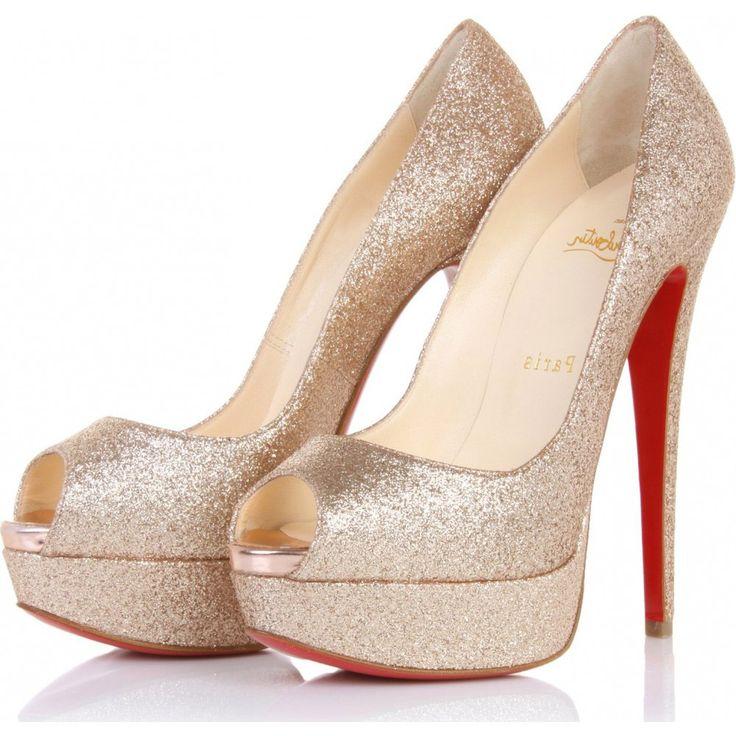 Gold Glitter Shoes <3 Beautiful
