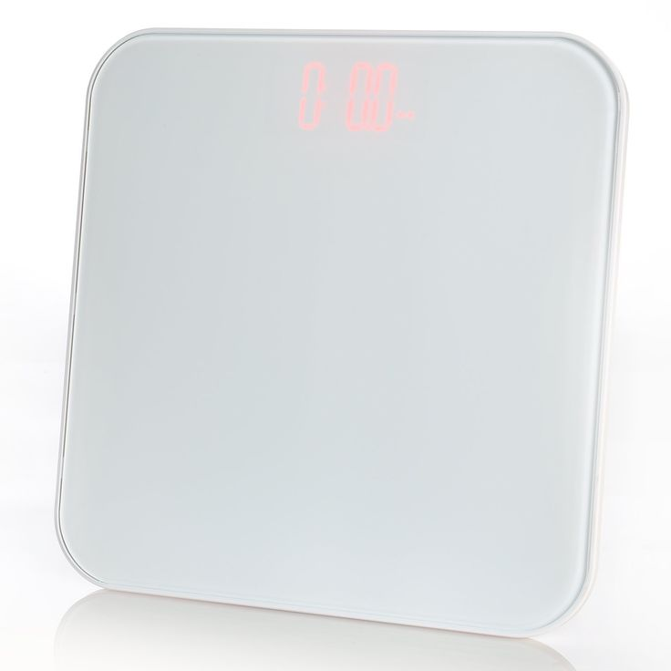 Ivation Digital Body Weight Bathroom Scale with Seamless Tempered Glass Top - Measures Weight in Kg, Lbs. or Stone, White *** Click on the image for additional details.
