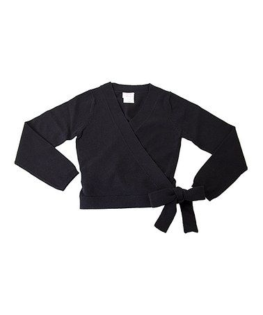 Look what I found on #zulily! Black Wrap Sweater - Toddler & Girls by All For Dance #zulilyfinds