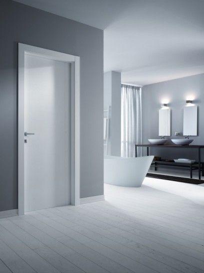 porte e pavimento pavimento nelle tinte del bianco pavimento e ...