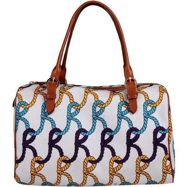 Roberta Di Camerino Handbag ($145) ❤ liked on Polyvore featuring bags, handbags, white, leather hand bags, white leather handbags, studded purse, studded leather purse and man bag