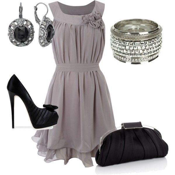 dress: Holidays Parties, Date Night, Shoes, Style, Fashion Outfits, Night Outfits, The Dresses, Grey Dresses, Black