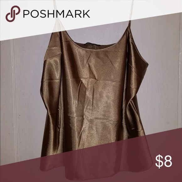 Shiny gold Cami Gorgeous gold and shiny Cami! Great for a night out Tops Camisoles