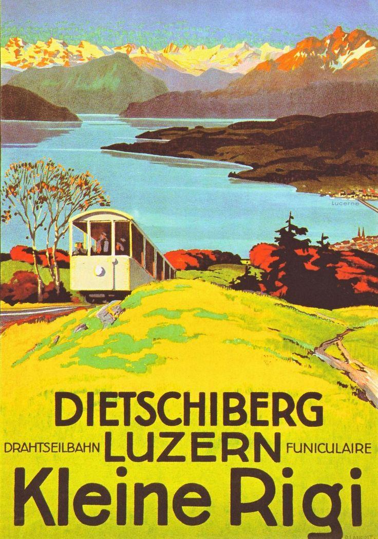 Kleine Rigi Travel Poster