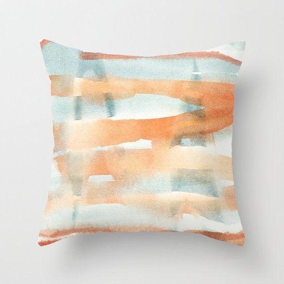 Cushion cover with fine art print. Burnt orange pastel by studioRS