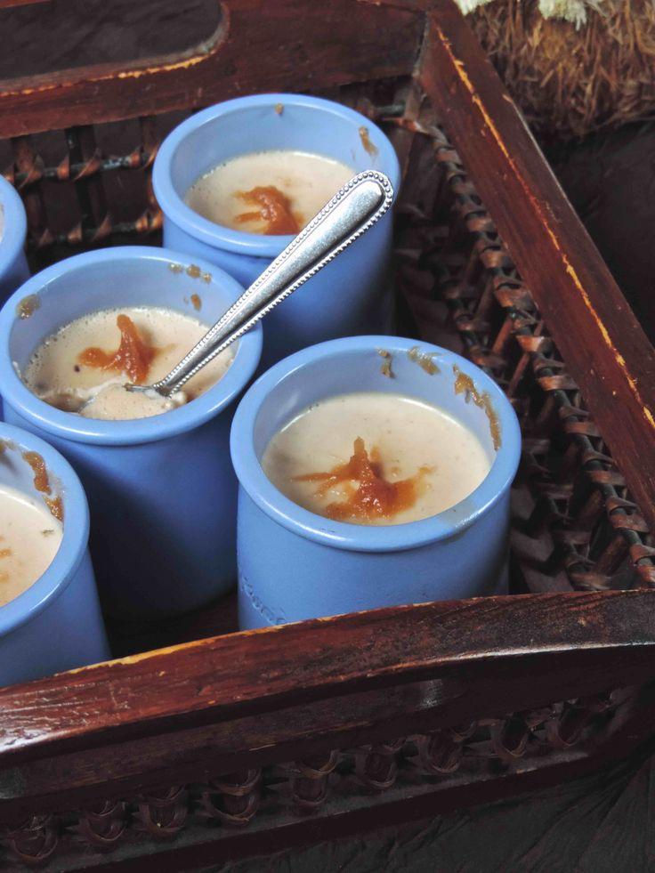 Découvrez la recette Panna cotta onctueuse à la crème de marrons sur cuisineactuelle.fr.