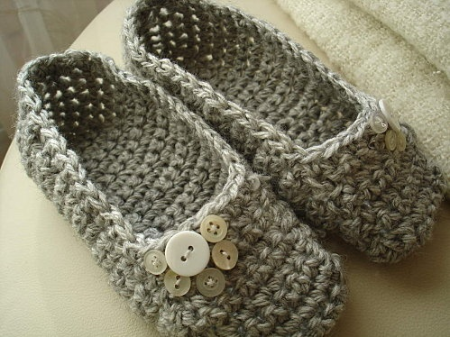 chaussons au crochet - tuto