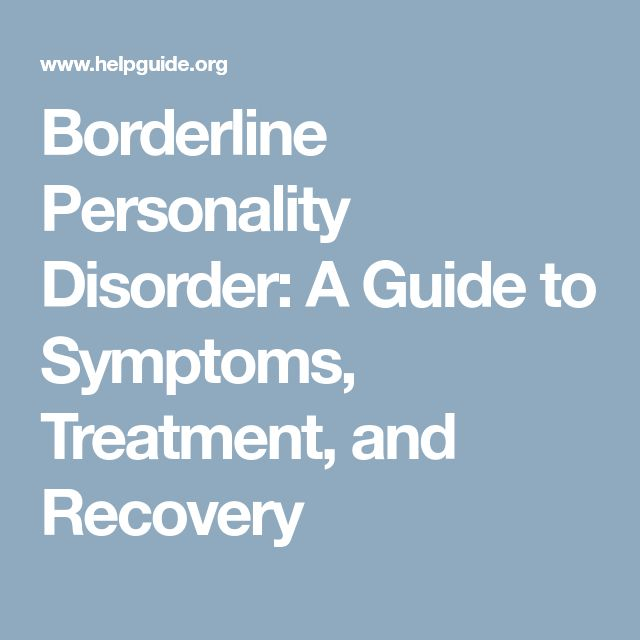 Hookup Someone Borderline Personality Disorder Symptoms