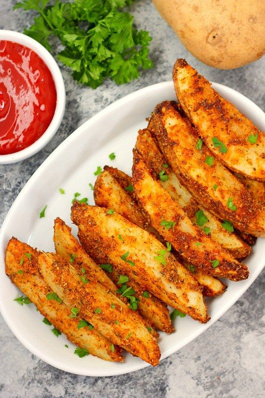 These Baked Garlic Parmesan Potato Wedges are crispy, seasoned with zesty spices and Parmesan, and roasted to perfection. Made with simple ingredients and ready in no time, you can skip the fast food
