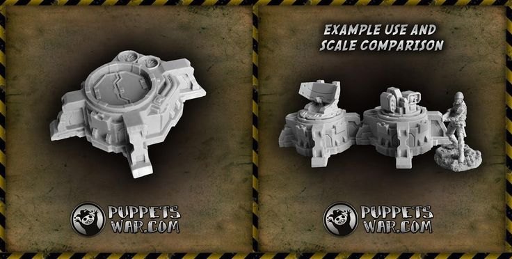 All conflicts are fought over something valuable - land, water, oil, mineral resources... and battles are fought over Tactical Objectives. We just released one.  Tactical Objective https://puppetswar.eu/product.php?id_product=634  Please note that the round niche at the top is compatible with our Turrets.