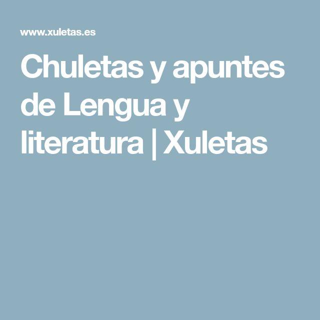 Chuletas y apuntes de Lengua y literatura | Xuletas