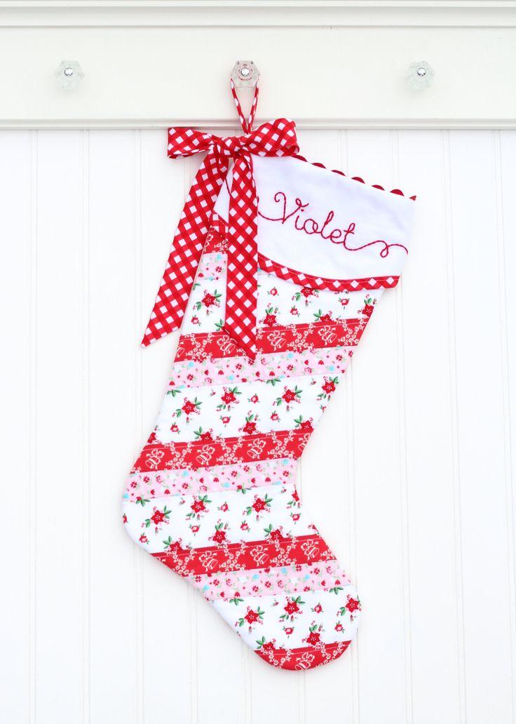 Personalized Christmas Stocking, Monogram Christmas Stocking, Blush Pink Baby Stocking, Girl Christmas Stocking, Baby's First Christmas