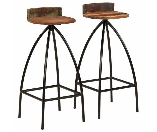 Lot 2 Chaises De Bar Industriel Solive De Plancher Tabouret De Bar Chaise Bar Tabouret De Bar Pliable