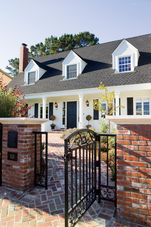 25 best ideas about brick fence on pinterest stone fence yard gates and iron fences - Most frequent fence materials ...