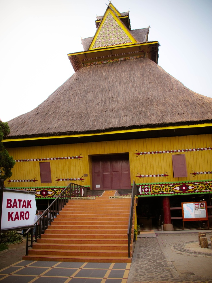 The traditional house of Batak karo, North Sumatra