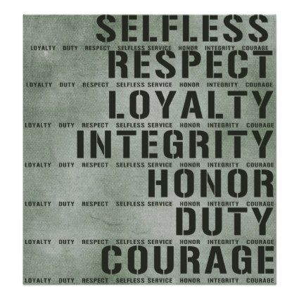 the importance of respect in the army values Army values essay nowadays the military of the country is the face of its independence, patriotism, national security and power army, especially its triviality, courageous soldiers and wise commanders, is widely glorified in our culture, history and mass media.