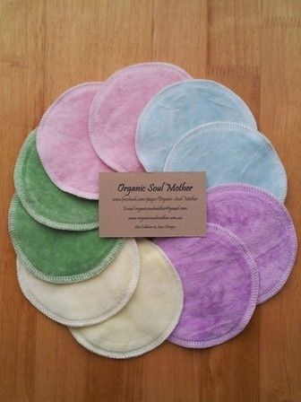 Organic Nursing/Breast Pads by Organic Soul Mother http://madeit.com.au/Main/Item?itemId=839198