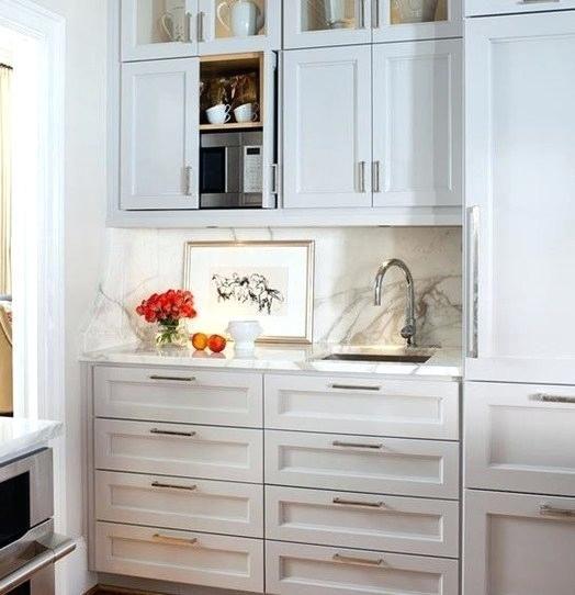 Hidden Microwave Cabet Cabinet Basement Bar In 2019 Microwave