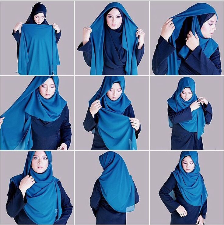 with square hijab.Syar'i Hijab