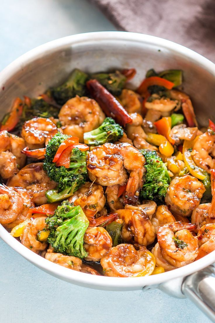 Healthy Teriyaki Shrimp Broccoli Stir Fry is ready in 30 minutes and is an easy asian recipe when you want dinner quickly.