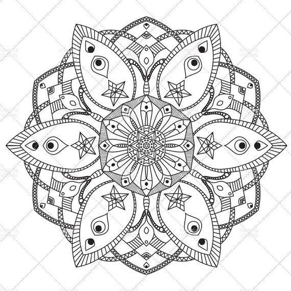 printable mandala 1 adult coloring page printable art home decor instant download pdf
