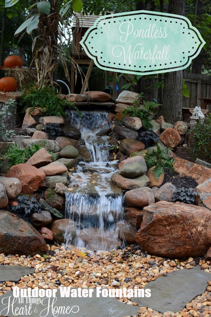 Ideas To Make Your Own Outdoor Water Fountains Top Cool Diy Water Fountains Outdoor Waterfalls Backyard Ponds Backyard