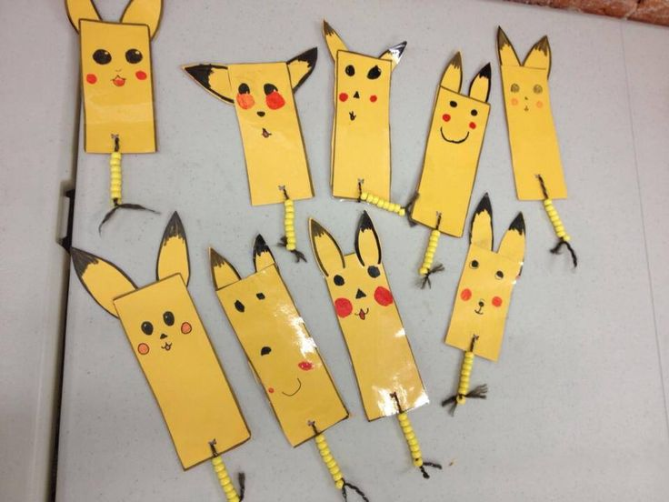 Pokemon Pikachu Bookmarks