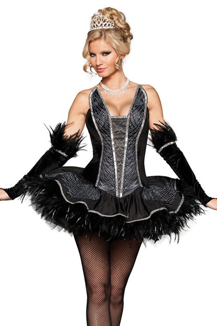 Sexy feather halloween dresses
