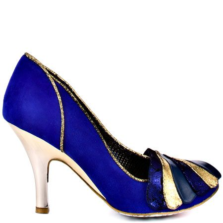 Royal Marriage - Blue by Irregular Choice. I've been looking at these shoes for 3 years. so expensive, but so cute.