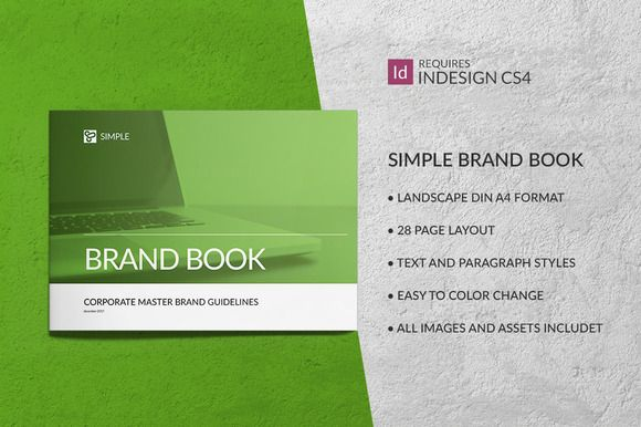 Simple Brand Book Guidelines by buttonpl on @creativemarket