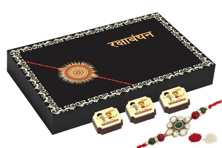 Rakhi gift ideas - 12 Chocolate Gift Box - Rakhi gift for sister