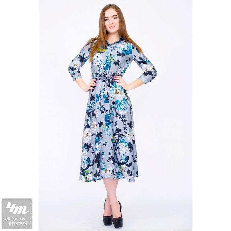 Платье RiMari «Сюзи»  Романтический образ в стиле 70-х в этой модели создают три составляющих: это легкая струящаяся ткань - современная дышащая ткань «Airflo» в нашей модели, женственный силуэт, подчеркивающий достоинства фигуры его обладательницы, и стильный цветочный принт. Рубашечный фасон верхней части платья представлен выразительным отложным воротничком и застежкой на планку, которую можно застегивать и полностью, что придаст образу дополнительной строгости. Нарочитую строгость здесь…