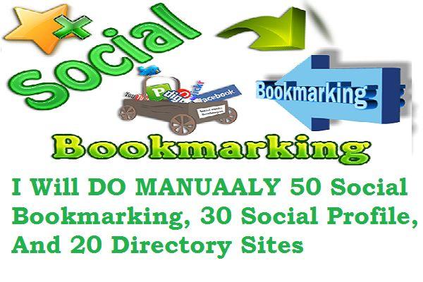 do Manually 50 Social Bookmark,30 social profile PR4toPR10