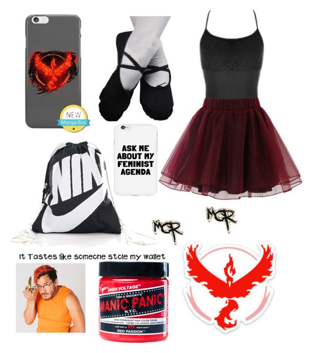 """Idek"" by gabiwilcox on Polyvore featuring Capezio, Chicwish, NIKE, Valor and Manic Panic NYC"
