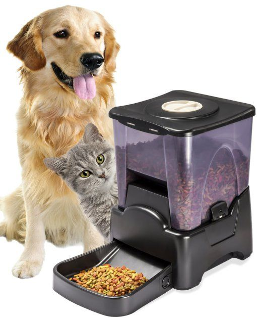 Automatic Electronic Timed Programmable Dog Feeder for Small to Large Dogs ///////////////////////// gadgets, cool tech, animals, pet gadgets, automatic dog feeder, automatic cat feeder