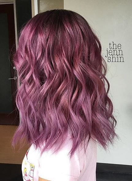 Berry lobb-ley by @thejennshin Filed under: Hair Color, Hair Styles, Hair Stylists Tagged: beauty, BERRY HAIR COLOR, hair, hairstyles, PURPLE HAIR, style, trends, VIOLET HAIR