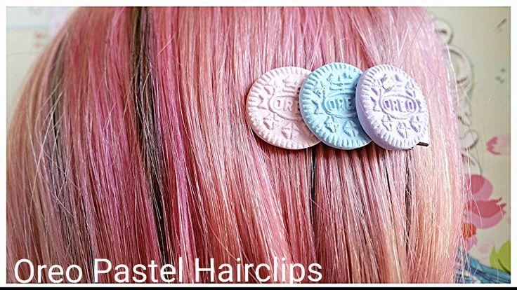 Oreo Cookie Hair clip,Fairy Kei Pastel Goth hair Clip,Kawaii Hair Clip,Handmade