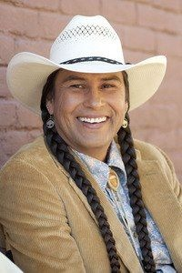Moses Brings Plenty, an Oglala Lakota television, film, and stage actor, as well as a traditional drummer and singer.