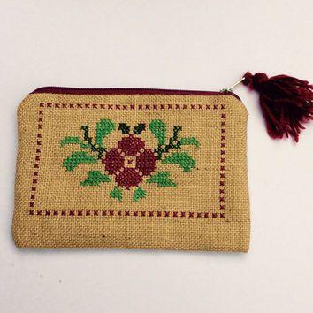 cross stitch handbag - Google Search