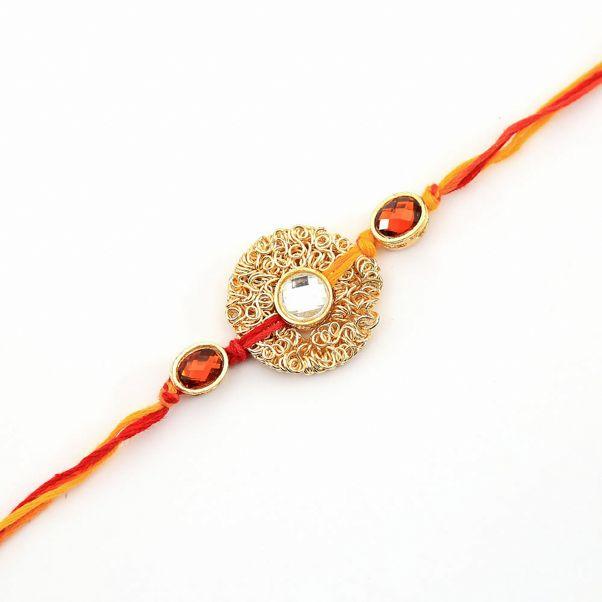 a2ab97c5af6f3b422f748faa52382a81 - Zari Gold Stone Rakhi | India Circus | Rakhi Jewelry | Ultimate Rakhi Guide | ( ...