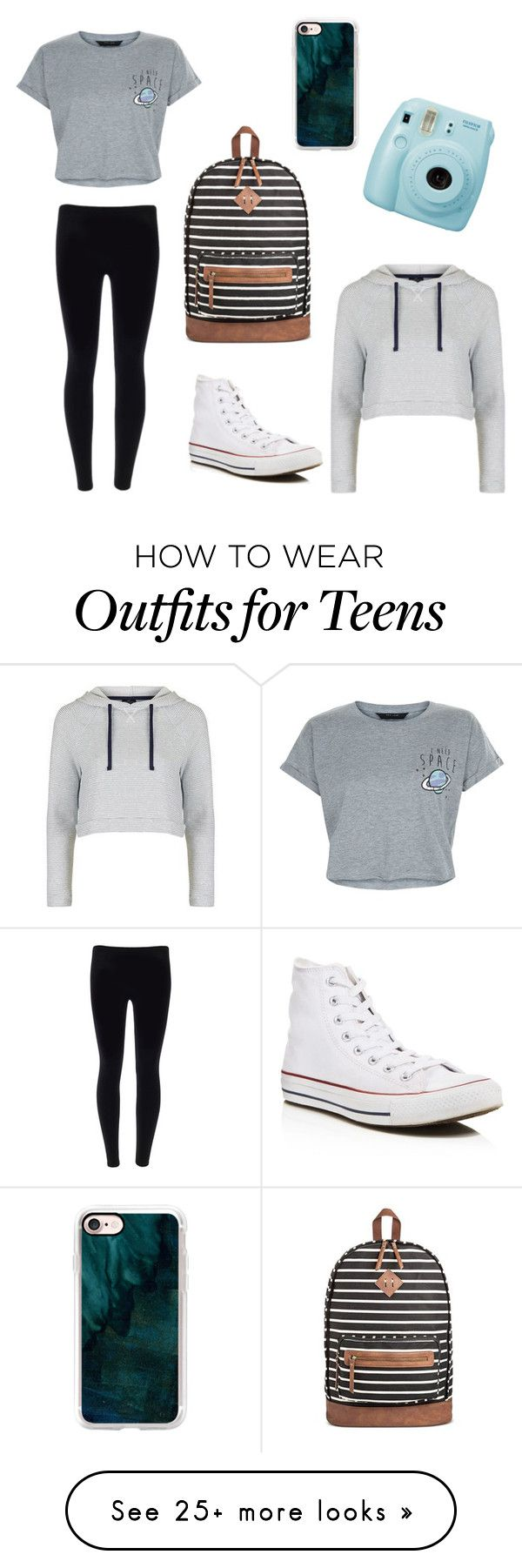 """""""My everyday outfit"""" by krtl13 on Polyvore featuring New Look, Mossimo Supply Co., Converse, Topshop, Fujifilm and Casetify"""