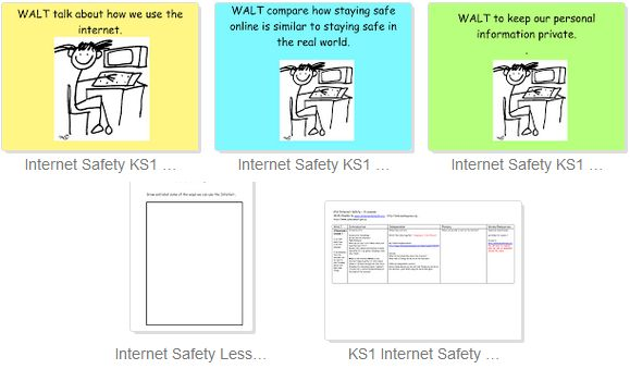 KS1 Internet Safety 4 Sessions - I can... talk about how I use the internet, that internet takes me to far away paces and people, that staying safe on internet is like staying safe in real life, I understand what info is private and how to keep it that way.