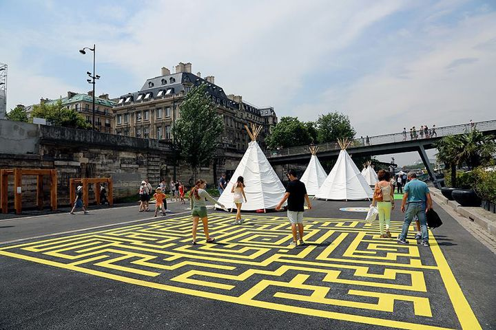 Summer festivals in Paris, Clair de Lune outdoor film festival, HiP Paris Blog, Les Berges, August Events