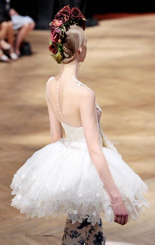 The hair is amazing and dress is like a ballerina dress!!!
