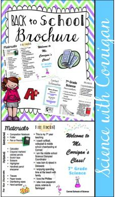 Back to School teacher brochure. Great for meet the teacher night, or back to school open house! Great resource for parents & students. This brochure is editable, but full of teacher contact information, curriculum, materials, student expectations, and teacher fun facts!