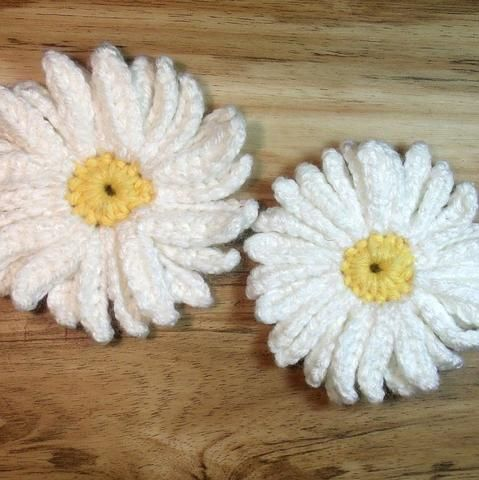 Daisy Applique Crochet Pattern